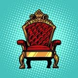 Troon, symbool van Koninklijke macht Royalty-vrije Stock Foto