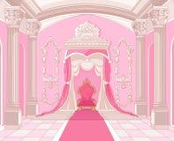 Troonruimte van magisch kasteel royalty-vrije illustratie
