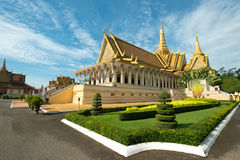 Troonzaal in de Royal Palace-Samenstelling, Phnom Penh, Kambodja Stock Foto
