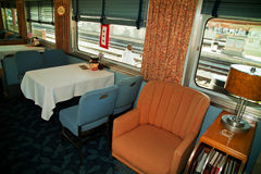 Troop Train dining car Stock Image