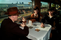 Troop Train Dinner Table Royalty Free Stock Image