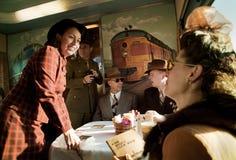 Troop Train people  Royalty Free Stock Image