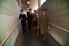 Troop Train reenactment  Royalty Free Stock Images