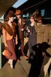 Troop Train reenactors  Royalty Free Stock Image