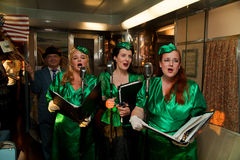 Troop Train singers Royalty Free Stock Photography