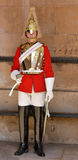 Trooper of the Blues and Royals performing ceremonial duties at Royalty Free Stock Images