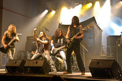 Trooper in Concert. The most famous new romanian heavy metal band, Trooper performing live on April 26 2009 at Hala in Bucharest Romania opening for Nazareth Stock Image