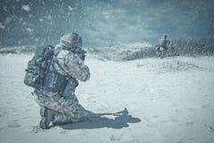 Troopers winter storm Stock Image