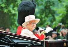 Trooping of the color Queen Elizabeth 2015 Royalty Free Stock Photography