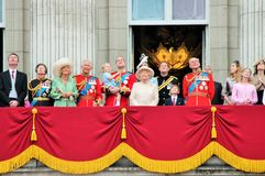 Trooping of the colour Buckingham Palace Balcony 2015 Royalty Free Stock Photography
