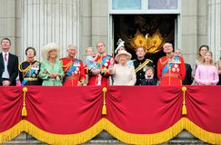 Trooping of the colour Buckingham Palace Balcony 2015 Royalty Free Stock Images