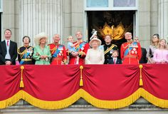 Trooping of the colour Buckingham Palace Balcony 2015 Stock Image