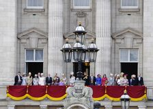 Trooping the Colour, London 2012. LONDON, UK - June 16: The Royal Family appears on Buckingham Palace balcony during Trooping the Colour ceremony, on June 16 Stock Photography