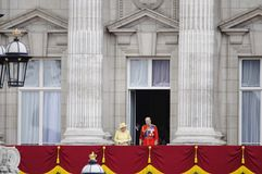 Trooping the Colour, London 2012. LONDON, UK - June 16: The Royal Family appears on Buckingham Palace balcony during Trooping the Colour ceremony, on June 16 Stock Image