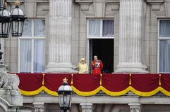 Trooping the Colour, London 2012. LONDON, UK - June 16: The Royal Family appears on Buckingham Palace balcony during Trooping the Colour ceremony, on June 16 Royalty Free Stock Image