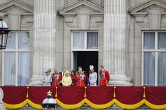 Trooping the Colour, London 2012. LONDON, UK - June 16: The Royal Family appears on Buckingham Palace balcony during Trooping the Colour ceremony, on June 16 Stock Photos