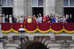 Trooping the Colour, London 2012. LONDON, UK - June 16: The Royal Family appears on Buckingham Palace balcony during Trooping the Colour ceremony, on June 16 Stock Images