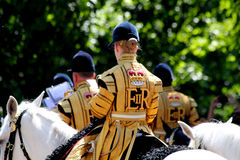 Trooping The Colour 2017 London England. The Household Cavalry Band in The Mall London England Royalty Free Stock Image
