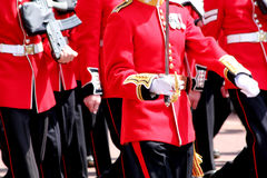 Trooping The Colour 2017 London England. Marching Guardsman in The Mall London England Stock Image