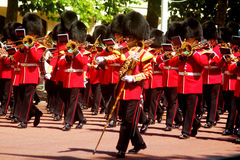 Trooping of The Colour London England. Marching Guardsmen in The Mall London England Stock Photo
