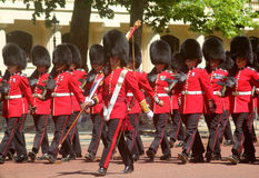 Trooping of The Colour London England. Marching Guardsmen in The Mall London England Royalty Free Stock Image