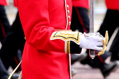 Trooping The Colour 2017 London England. Marching Guardsmen in The Mall London England Royalty Free Stock Photos