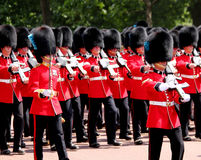 Trooping The Colour 2017 London England. Marching Guardsmen in The Mall London England Stock Image