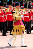 Trooping The Colour 2017 London England. Marching Guardsmen in The Mall London England Royalty Free Stock Image
