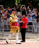 Trooping The Colour 2017 London England. Marching Guardsmen in The Mall London England Stock Photography