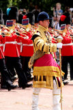 Trooping The Colour 2017 London England. Marching Guardsmen in The Mall London England Royalty Free Stock Photography