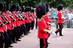 Trooping The Colour 2017 London England Watercolour. Marching Guardsman in The Mall London England Stock Photos