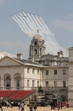 Trooping of the Colour planes,in London. The trooping of the colors ion the Queen's birthday, one of London's most popular annual pageants Royalty Free Stock Photo