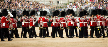 Trooping the Colour, the Royal Guards, Stock Image