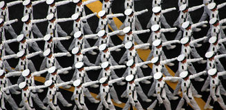 Troops Marching. During Parade Royalty Free Stock Photography