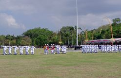 Troops Marching, Indonesia Royalty Free Stock Image