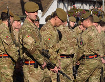 Troops of the Royal Anglian Regiment Stock Images