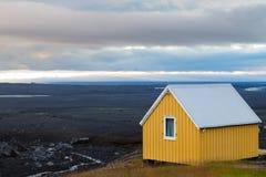 Troosteloos landschap van Kverfjoll-gebied, het panorama van IJsland royalty-vrije stock afbeelding