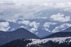 Troosteloos Tibetaans Plateau Stock Foto