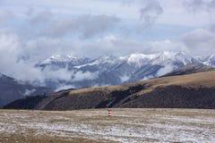 Troosteloos Tibetaans Plateau Stock Foto's
