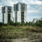 Troosteloos voorstadlandschap stock foto's