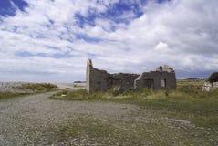 Troosteloze ruïne in Wales, het UK Stock Afbeelding