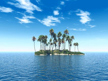 Trop_island Royalty Free Stock Photography