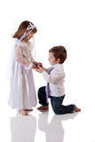 Trop jeune pour se marier Photos stock