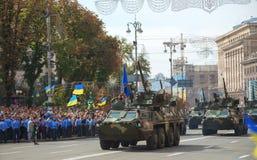 Tropa-portadores blindados ucranianos modernos Bucephalus em Kyiv Fotos de Stock