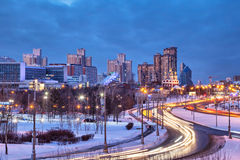 Troparevo district in the winter evening Royalty Free Stock Photos