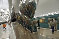 Troparyovo-Metrostation in Moskau stockfotos