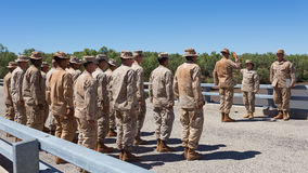 Tropas americanas en ejercicio en el Territorio del Norte, Australia Foto de archivo libre de regalías