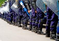 Tropas de la policía fotografía de archivo