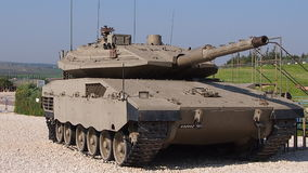 Tropas israelitas Yad le-Shirion do tanque do museu Imagem de Stock