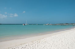 Tropcal beach. Caribbean beach with white sand Stock Photography